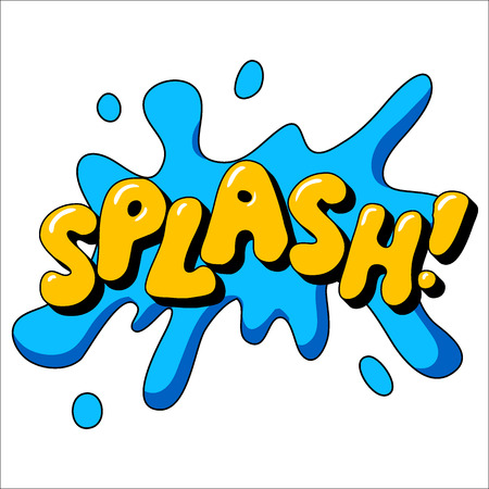 Splash sound effect illustration, word and splash picture isolated on white Stock Vector - 46167734