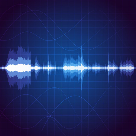 sound wave: Digital sound wave, unique music pulse background