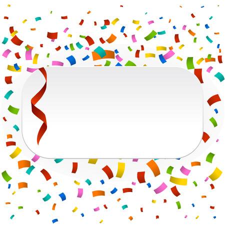 Colorful confetti background. New celebration party illustration Ilustração
