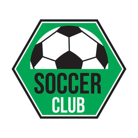 soccer club: Soccer club logo, colored emblem on white background