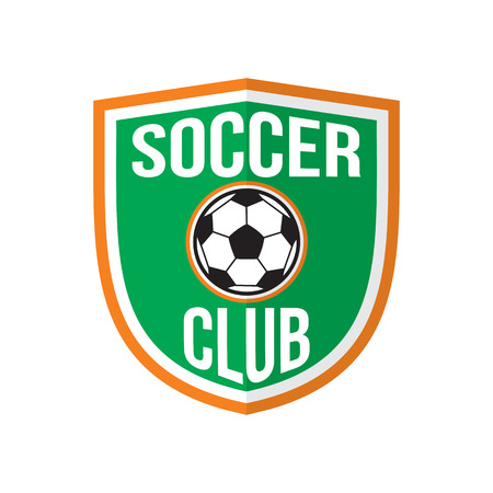 soccer club: Mejor logotipo del club de f�tbol, ??emblema de color sobre fondo blanco Vectores