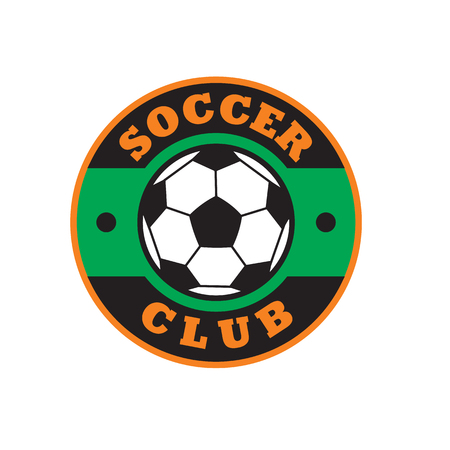 soccer club: Nice soccer club logo, colored emblem on white background