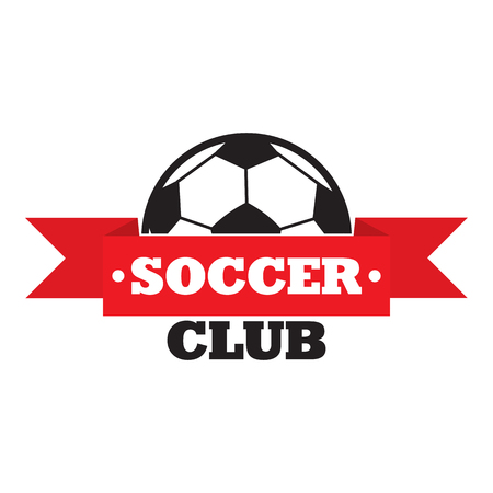 soccer club: New soccer club sign, colored emblem on white background Vectores