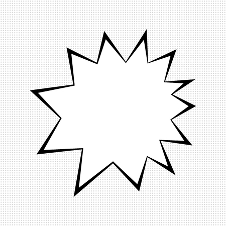 sudden: Comic bubble sign, monochrome templates on dotted background Illustration