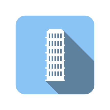 nice house: Nice house flat icon isolated on white background Illustration