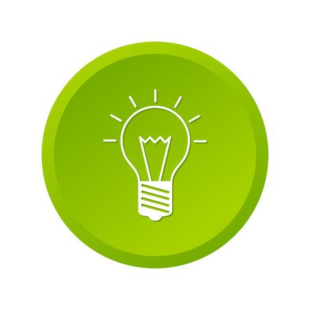 scriibble: Light bulb green icon on white background Illustration