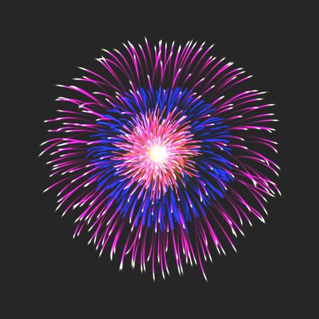 skyrocket: New firework icon sign on black background