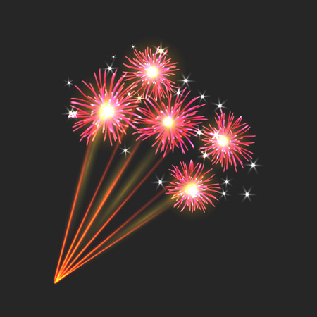 aerial bomb: New firework icon sign on black background