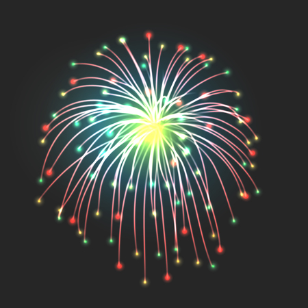 pyro: New firework icon sign on black background