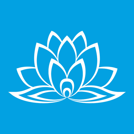 flower logo: New lotus flower sign for the perfect web design