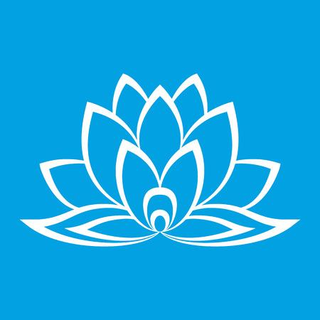 tatouage fleur: Nouveau signe de fleur de lotus pour la conception de sites Web parfaite Illustration