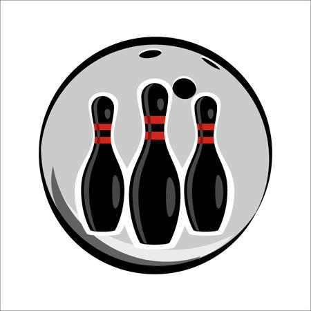 bolos: Bowling equipo o club emblema para la web y dispositivos m�viles