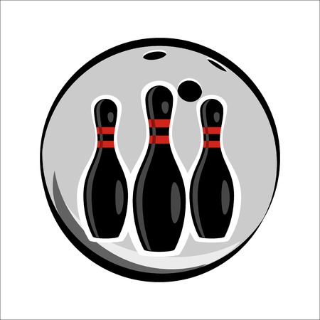bowling strike: Bowling team or club emblem for web and mobile device Illustration