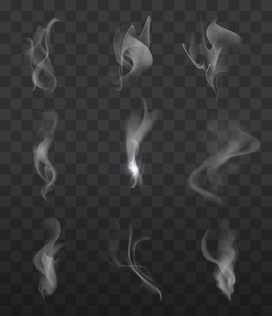 dark cloud: Smoke signs set on transparent background for web and mobile device