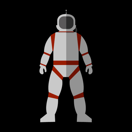 Cosmonaut flat icon for web and mobile device