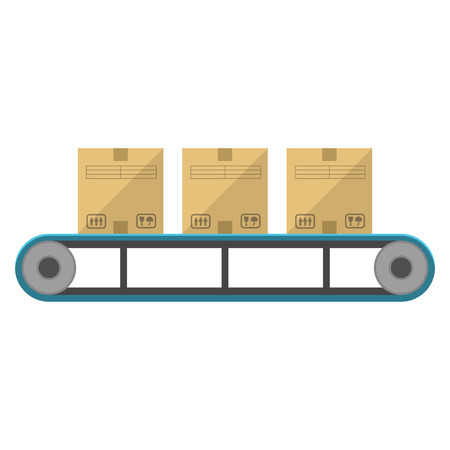 feeder: Boxes on the feeder flat icon isolated on white background