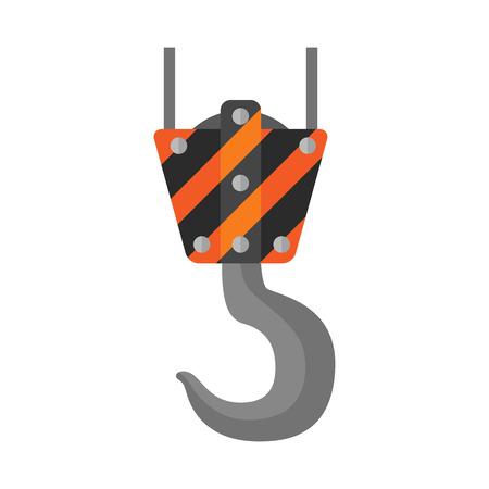 cranes: Crane flat icon isolated on white background Illustration