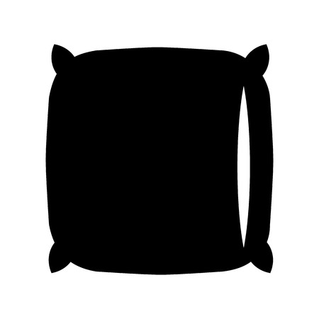 Pillow black icon. Sleep symbol for web or mobile device