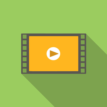 Video Flach Symbol für Web oder Mobilgerät Standard-Bild - 47328519