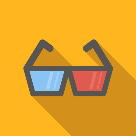 3d video flat icon for web or mobile device Illustration