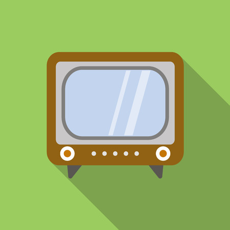 antena: Retro tv icon in flat style for web and mobile device Illustration