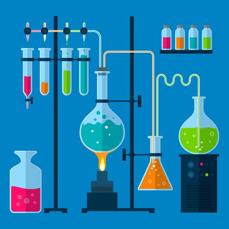concetto di attrezzature di laboratorio per il web e dispositivi mobili