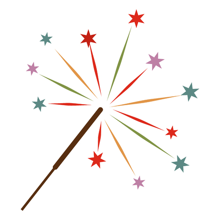bengal light: Sparkler flat icon for web and mobile devices