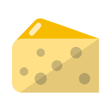 edibles: Cheese flat icon for web and mobile devices Illustration