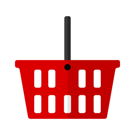 web shopping: Shopping basket flat icon for web and mobile devices