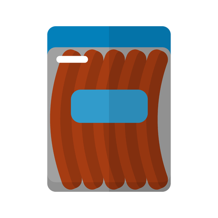 processed food: Sausage package flat icon for web and mobile devices