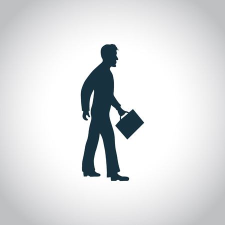looking away: Business man silhouette for web and mobile devices