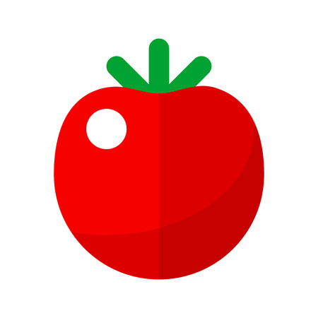 tomatoes: Tomato flat icon for web and mobile devices Illustration