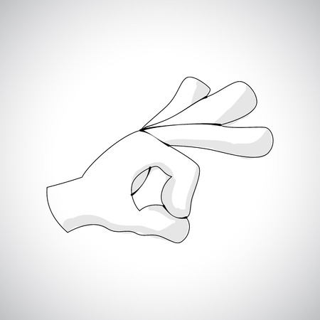 hand sign: Comics Hand icon. Ok sign for web and mobile devices Illustration
