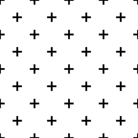 even: Plus seamless pattern for web and printing on fabric
