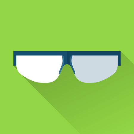 safety goggles: Safety goggles flat color icon isolated on a green.