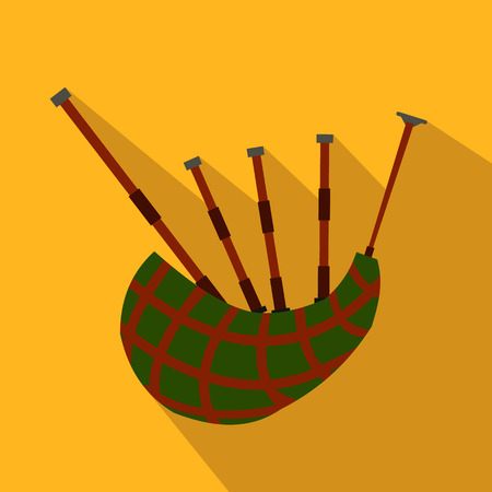 bagpipe: Scottish bagpipe flat icon for web and mobile devices