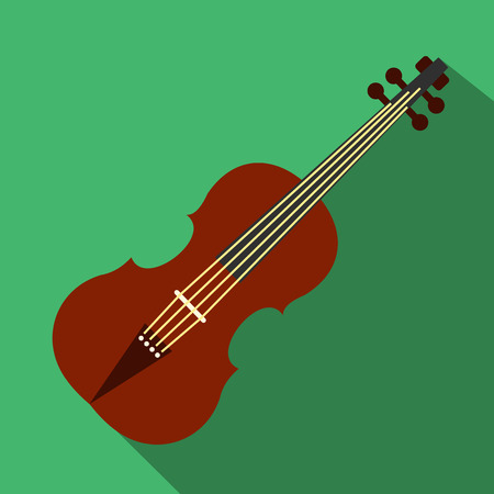 fiddle bow: Violin flat icon for web and mobile devices Illustration