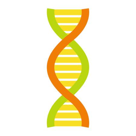 molecule symbol: Flat DNA and molecule symbol isolated on white background Illustration