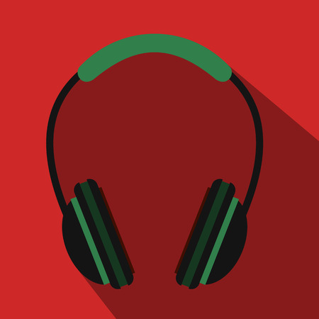 Headphone flat icon for web and mobile devices Illustration