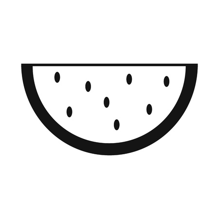 watermelon: Slice of watermelon simple icon isolated on white background Illustration