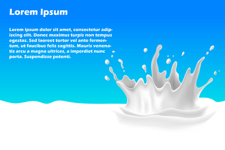 milkman: Splash of milk banner for web and mobile devices