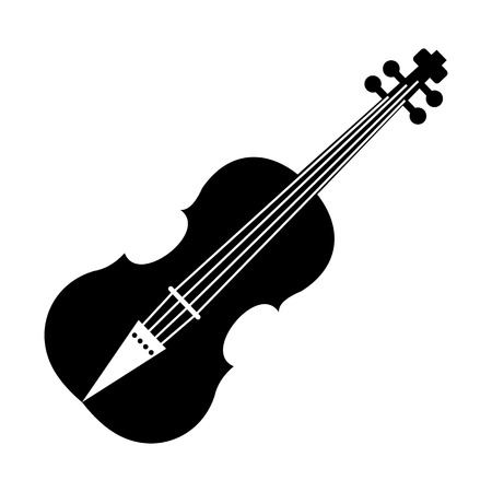 fiddle bow: Violin black simple icon on a white background