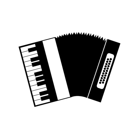 concertina: Accordion black icon on a white background