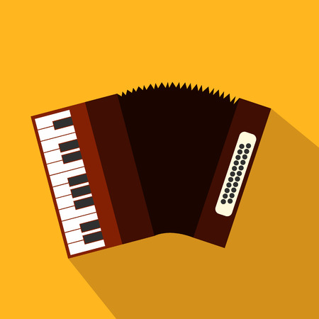 web design elements: Accordion flat icon for web and mobile devices Illustration