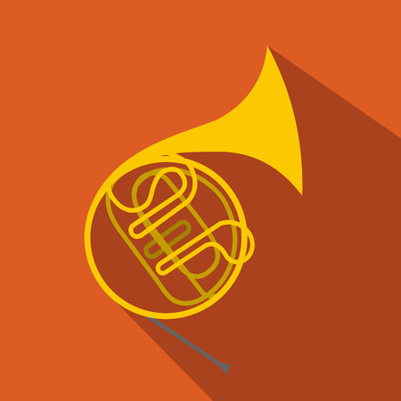 french: French horn flat icon for web and mobile devices