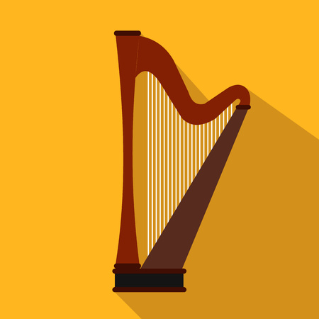 harp: Harp flat icon for web and mobile devices Illustration
