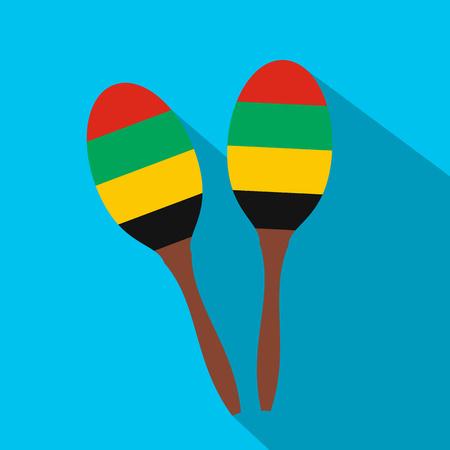 2 Maracas flach Symbol für Web und mobile Geräte Standard-Bild - 47990958
