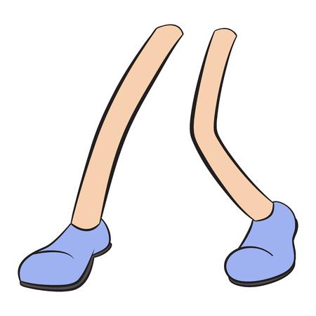pies bailando: Nueva pies danzantes de dibujos animados signo aislado sobre fondo blanco Vectores