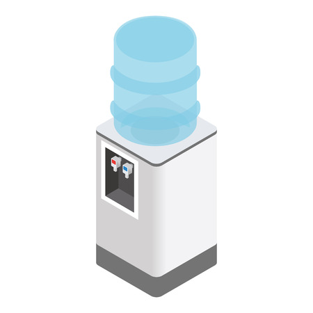 water cooler: Isometric office water cooler isolated on white background