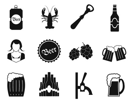 guinness: Beer icons set isolated on white background